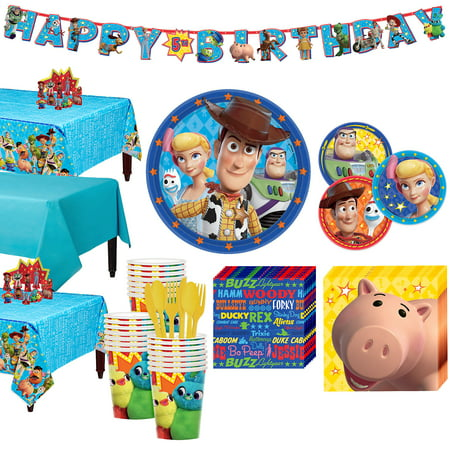 Party City Toy Story 4 Tableware Party Supplies for 24 Guests