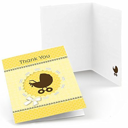 baby carriage baby shower thank you cards 8 count