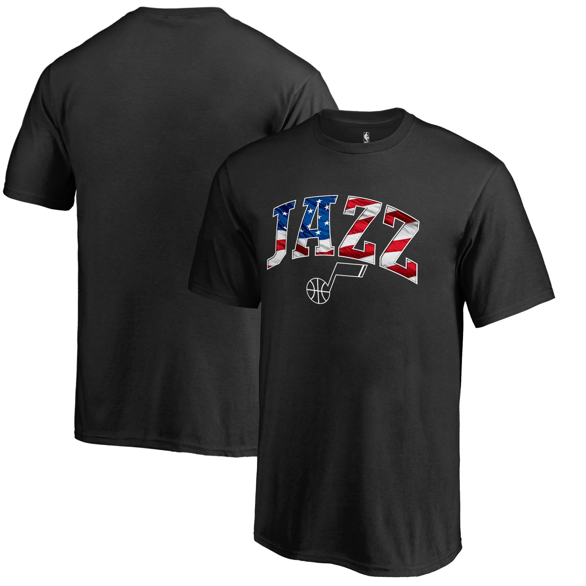 Utah Jazz Youth Banner Wave T-Shirt - Black