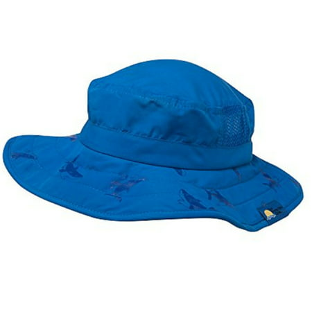 Kids UPF 50+ Safari Sun Hat - Blue Shark (Safari Hats For Kids)