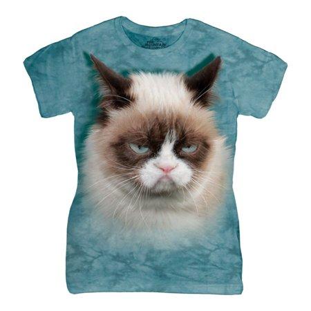 The Mountain Blue Cotton Grumpy Cat Design Novelty Parody Womens T Shirt New