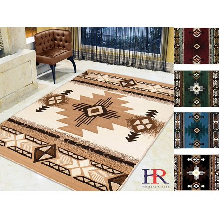 Handcraft Rugs Ivory Brown And Beige Modern Contemporary Southwestern Native American Style Area Rug Roximately 5 By 7