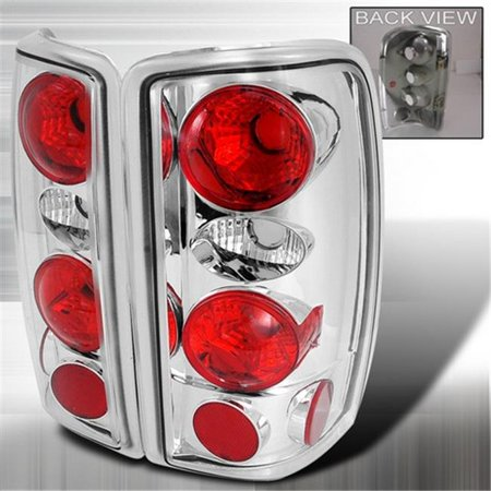 Spec-D Tuning LT-DEN00-KS Altezza Tail Lights for 00 to 06 Chevrolet-GMC Denali-Tahoe, Chrome - 6 x 18 x 22 in.