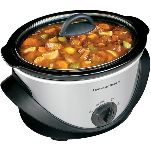 Hamilton Beach 4 Quart Kitchen Counter-Top Oval Slow Cooker | Model# 33141