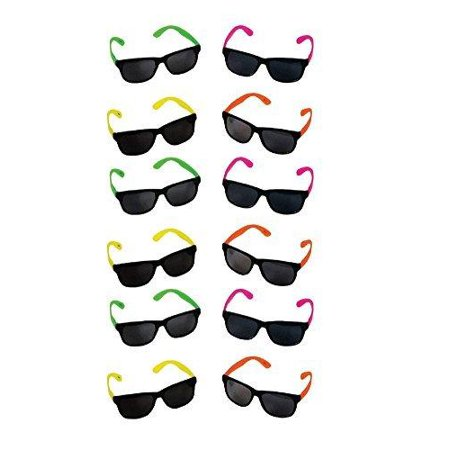 Bulk Wholesale Lot - Neon Party Sunglasses - Funny Party hats for $<!---->