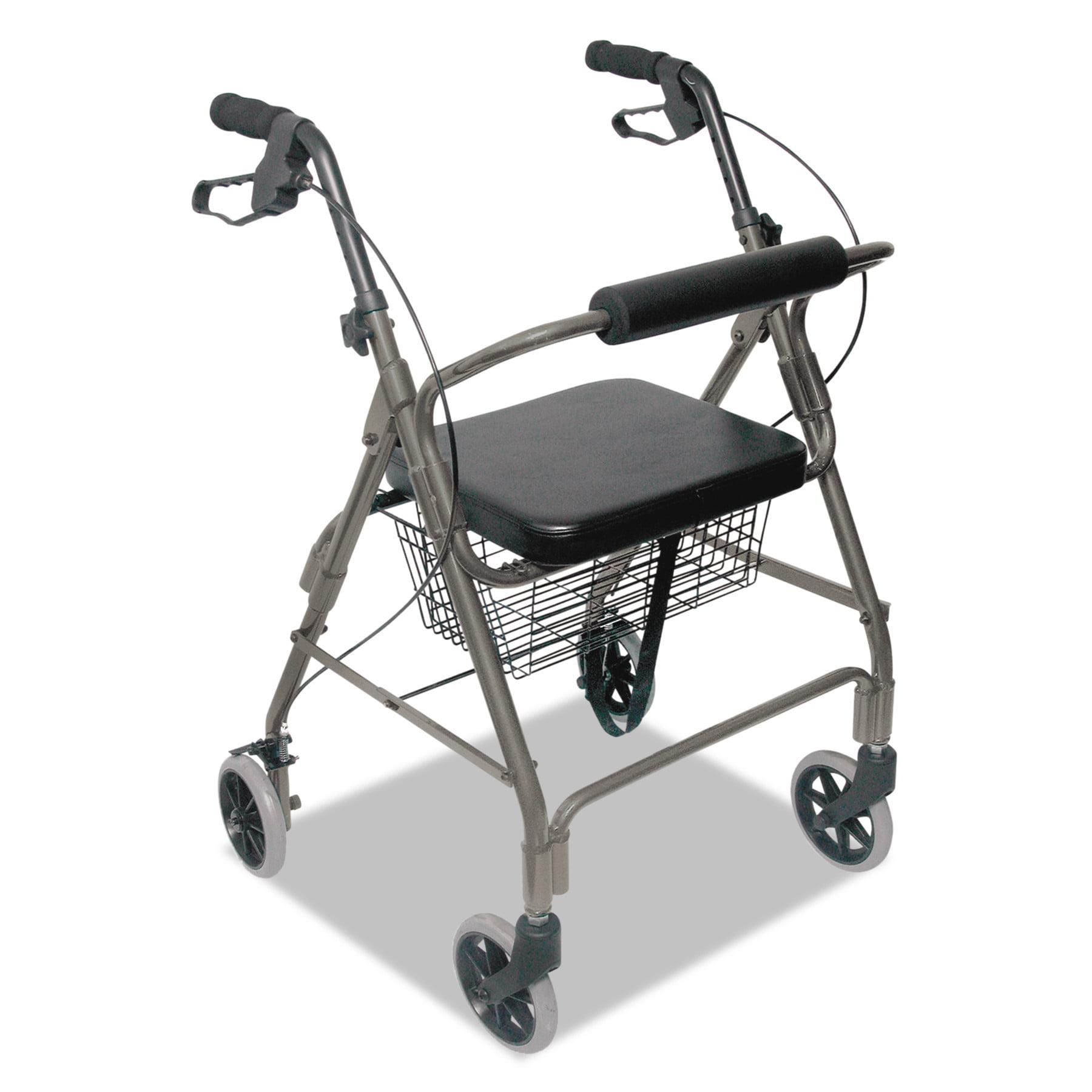 DMI Ultra Lightweight Rollator, Titanium, Aluminum, Adjustable