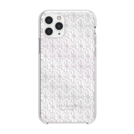 Kate Spade Protective Hardshell Case Spade Flower Pearl for iPhone 11 Pro Cases