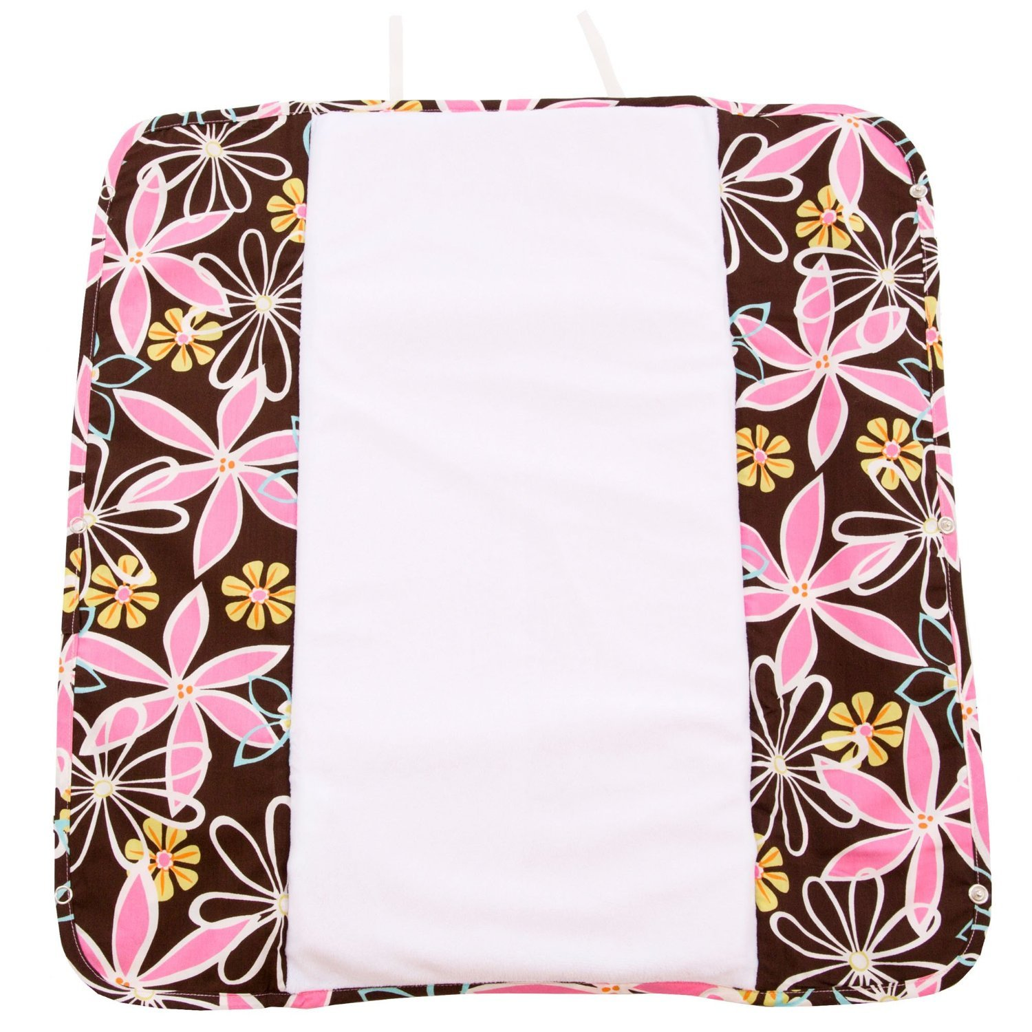 Image of Ah Goo Baby Plush Pad Changing Pad with Memory Foam - Retro Daisy