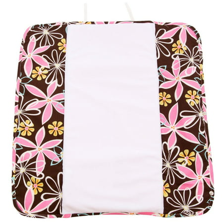 Ah Goo Baby Plush Pad Changing Pad with Memory Foam - Retro Daisy