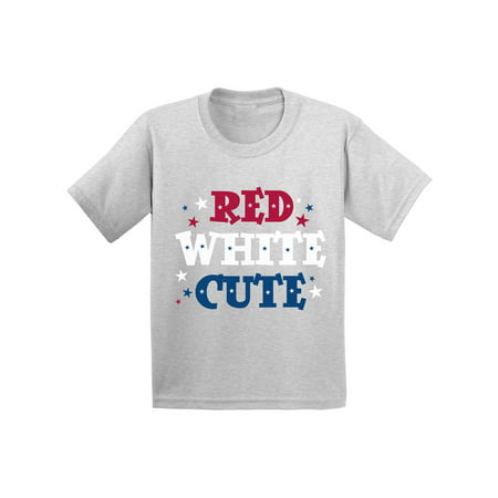 Awkward Styles Red White & Cute Toddler Shirt Cute 4th of July Shirts for Kids American Girl American Boy Red White & Blue Tshirt USA Star Kids Tshirt USA Gifts for Toddler Indenpendence Day Gifts - 4th Of July Crafts For Toddlers