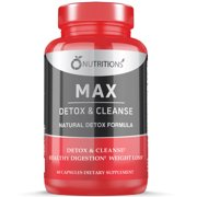 Max Detox Cleanse Colon Cleanser and Detox Diet Pills for Bloating,Constipation and Weight Loss, Full Body Cleanse - Best Reviews Guide