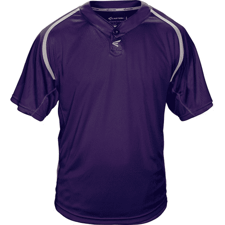 - Easton Adult M7 Homeplate Two-Button Baseball Jersey PURPLE M