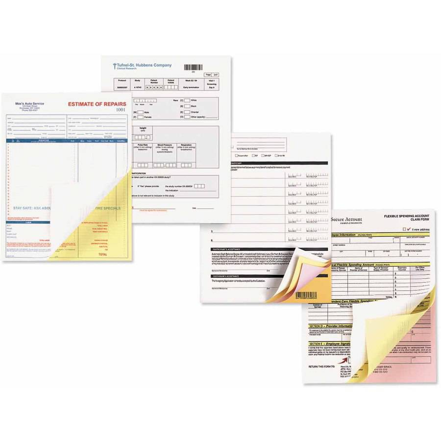 "Xerox Carbonless Paper, 3-Part Reverse, 8-1/2"" x 11"", Pink/Canary/White, 1670 Sets"