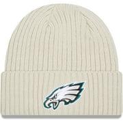 Philadelphia Eagles New Era Youth Core Classic Stone Knit Cuffed Hat - Cream - OSFA