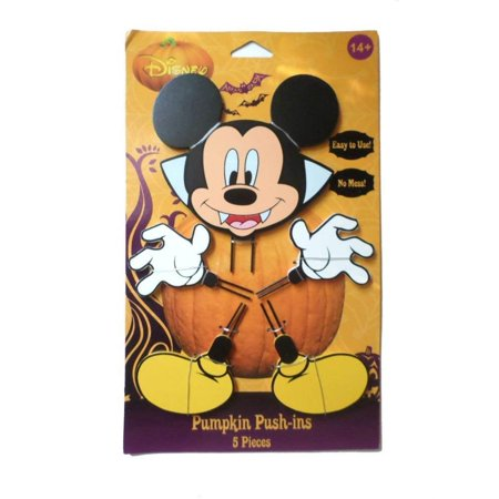 Mickey Halloween Wood Pumpkin Push-In 15 in, Decorate a pumpkin without the mess! This easy to use Mickey Mouse Wood Pumpkin Push-ins are fun for the.., By PTI