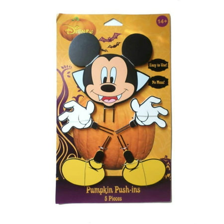 Easy Halloween Pumpkin Ideas (Mickey Halloween Wood Pumpkin Push-In 15 in, Decorate a pumpkin without the mess! This easy to use Mickey Mouse Wood Pumpkin Push-ins are fun for the.., By PTI)