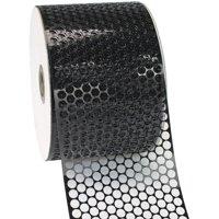 Morex Ribbon, Poly Honeycomb Ribbon, 3-1/4 in x 55 yd, Black