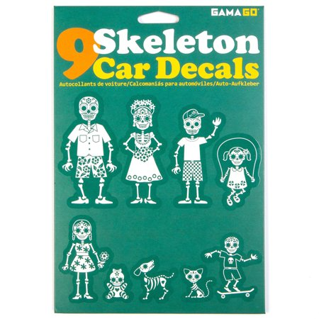 Skeleton car decals for Autocollant mural walmart