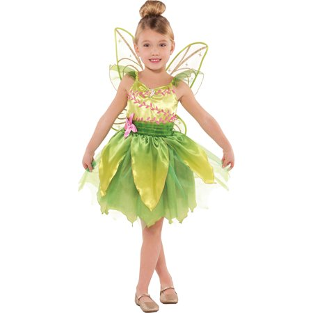 Suit Yourself Classic Tinkerbell Halloween Costume for Toddler Girls, Includes Wings - Funny Tinkerbell Costume