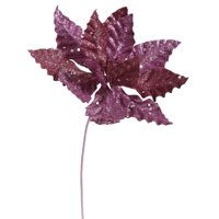 "Vickerman 356906 - 8"" Magenta Sparkle Poinsettia Pick (P141210)"