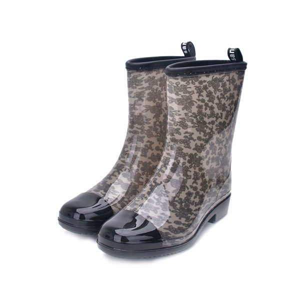 LEADOKOAS - Women's Floral Printed Mid Calf Footwear Outdoor Casual  Waterproof Rain Boots - Walmart.com - Walmart.com