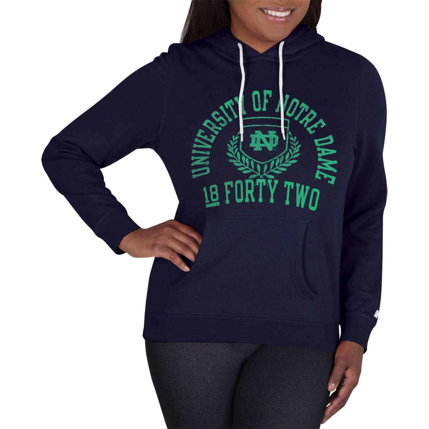 NCAA Notre Dame Fighting Irish Ladies Classic-Fit Pullover Hood
