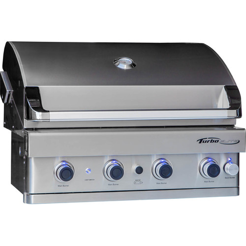 Barbeques Galore Turbo Elite 4-Burner Built-In Gas Grill