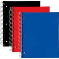TOPS Poly Wirebound Notebook 1-Subject/College Ruled - Quantity of 12 - PT -  TOP59255