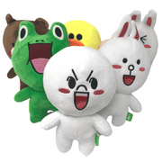 """Pack of 6 Line Characters Plush Stuffed Animal Toy,11"""""""
