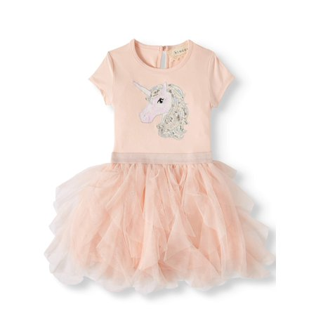 Btween Short Sleeve Ruffle Tutu Dress (Toddler Girls)](Tutu Dress Girl)
