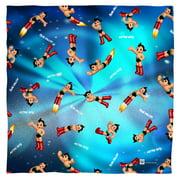 Astro Boy Pattern Poly 22X22 Bandana White One Size