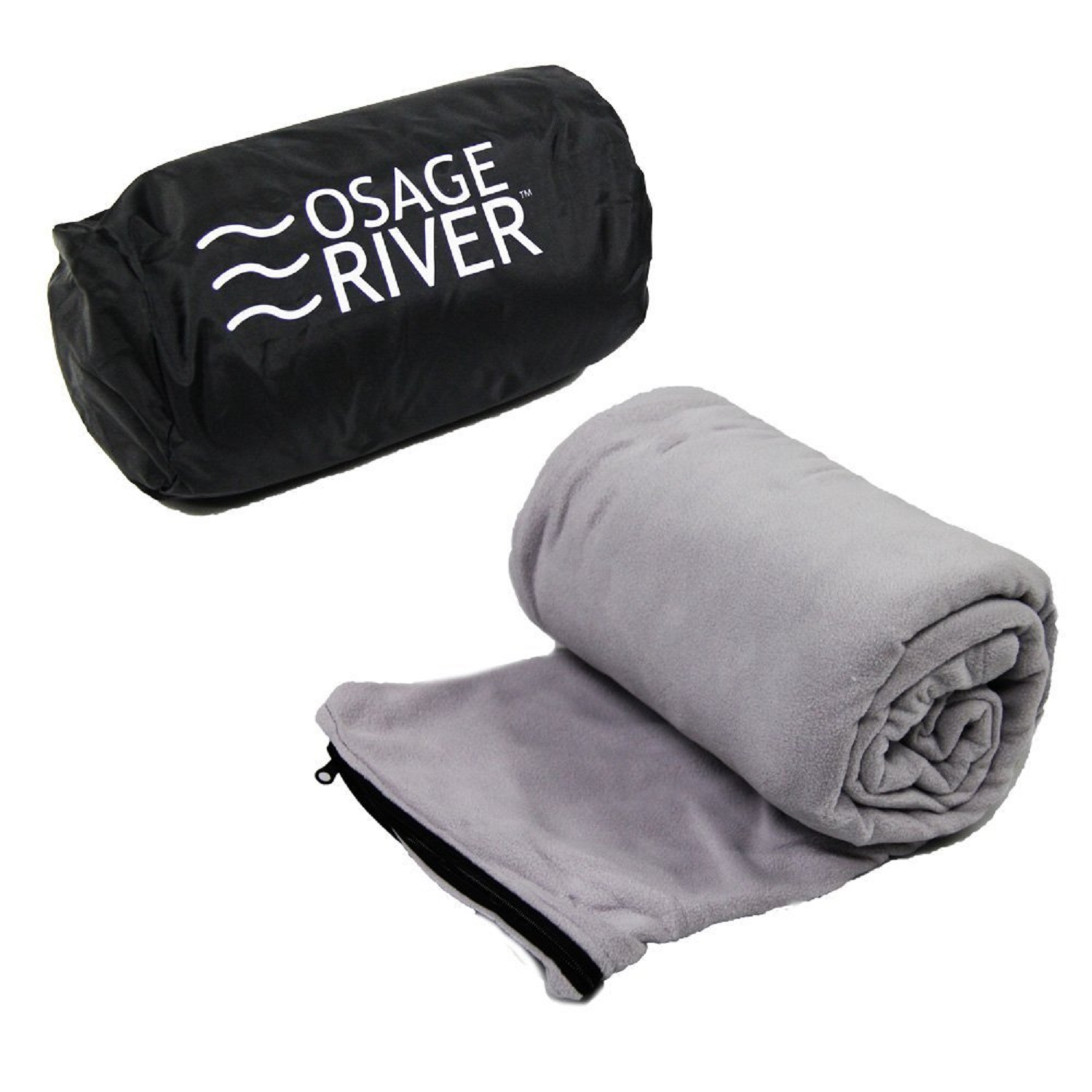 Osage River Microfiber Fleece Sleeping Bag Liner - Grey