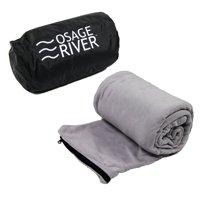 Osage River Microfiber Fleece Sleeping Bag Liner - Grey