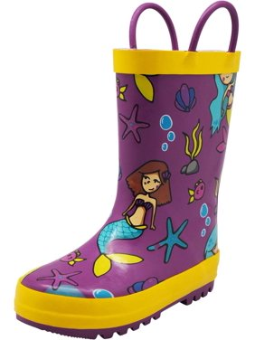 525da8012 Product Image Norty Toddlers Kids Boys Girls Waterproof Rubber Printed Rain  Boots -13 Patterns