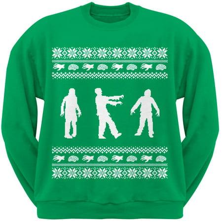 Zombie Green Adult Crew Neck Sweatshirt