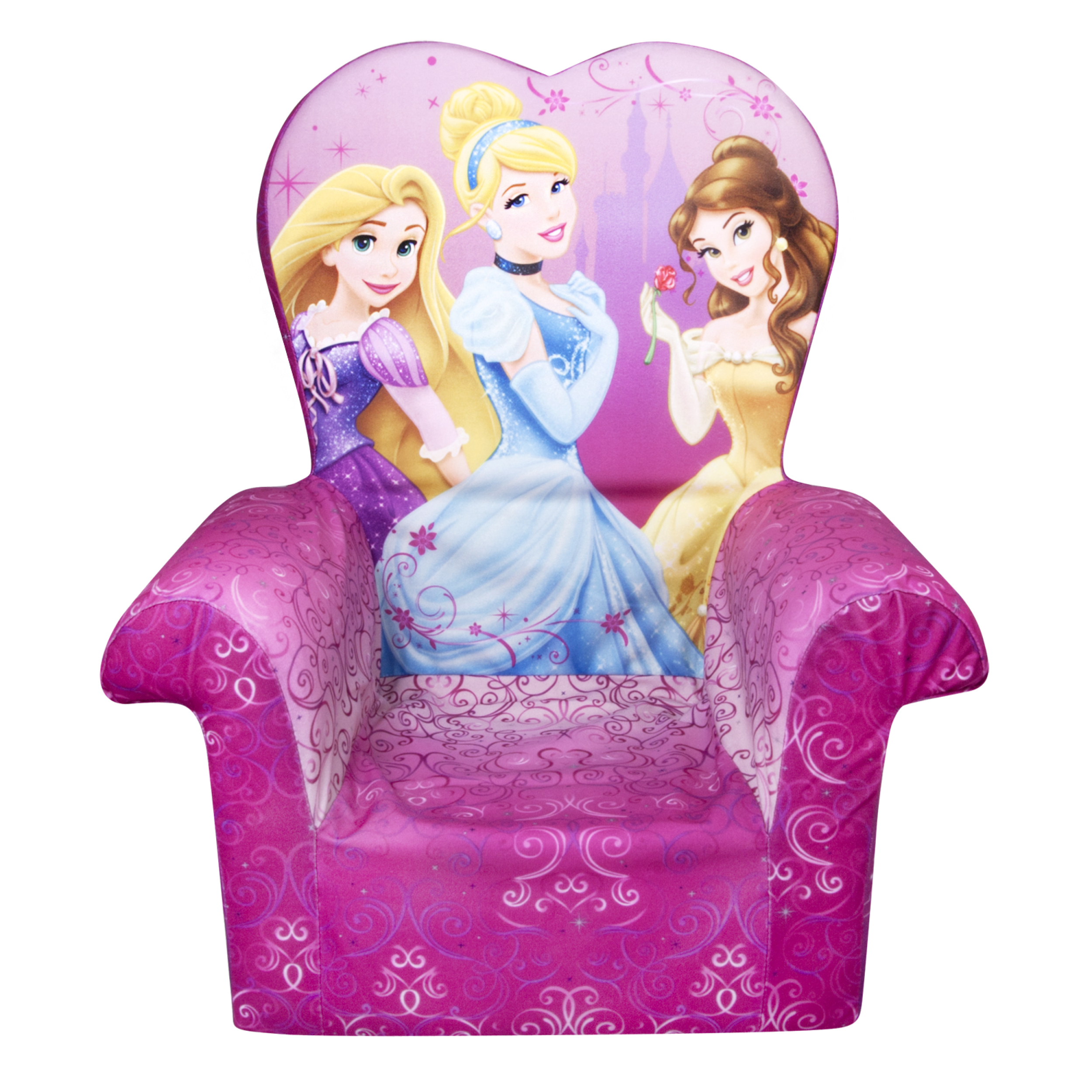 Marshmallow Furniture, Children's Foam High Back Chair, Disney's Princess, by Spin Master