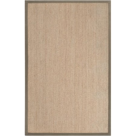 Dark Olive Area Rug (2' x 3' Touch of Zen Tan and Olive Green Natural Seagrass Area Throw)