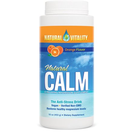 Natural Vitality Calm Magnesium Powder, Orange, 16oz