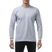 Mens Heavyweight Premium Long Sleeve T-Shirt Plain Crew Neck Casual Relaxed Fit