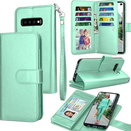 1eccbaad7278 Galaxy S10e Case, Samsung S10e Wallet Case, S10e PU Leather Case, Tekcoo  Luxury Cash Credit Card Slots Holder Carrying Folio Flip Cover [Detachable  ...