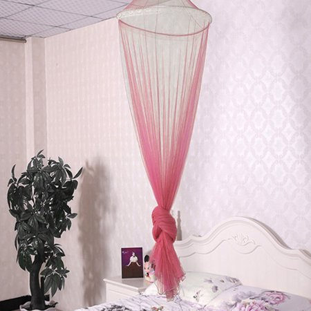 Universal Elegant Round Lace Insect Bed Canopy Netting Curtain Dome Polyester Bedding