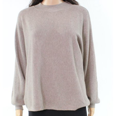 2bbb3b205a6 Designer - Designer NEW Beige Ribbed-Knit Dolman-Sleeve Small S ...