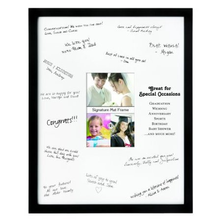Burnes of Boston 542146 Signature Picture Frame, Matted, 4-Inch by - Signature Photo Frame