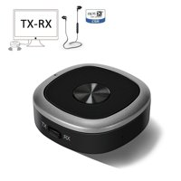 Bluetooth 4.1 Transmitter And Receiver, 3.5mm Wireless Audio Adapter with APT-X Low Latency And Multi-Point Access for TV / Home Sound System