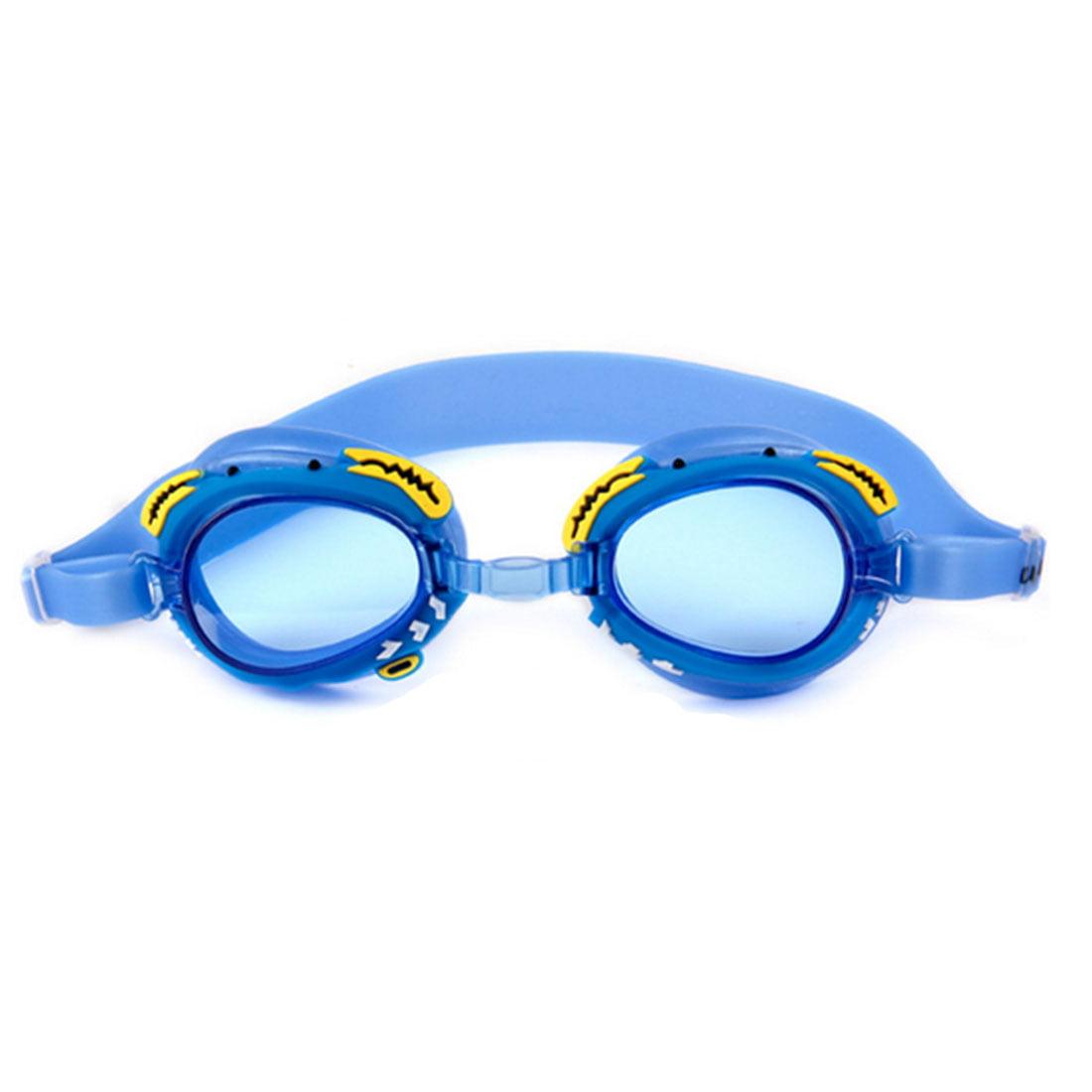 Waterproof Antifog Children Swimming Goggles Flat Glasses Blue Crab Type by