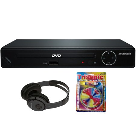 b8b0636e1ff Sylvania HDMI 1080p High Definition DVD Player with USB Port (SDVD6670) +  Bluetooth Bundle with Wireless Headphones - Walmart.com