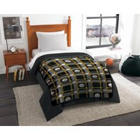 "NFL Pittsburgh Steelers Plaid Repeat Oversized Micro Rachel Throw Blanket, 55"" x 85"""