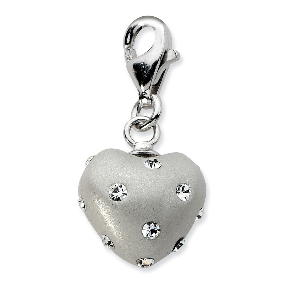 JewelsObsession Sterling Silver 26mm Michigan Charm w//Lobster Clasp