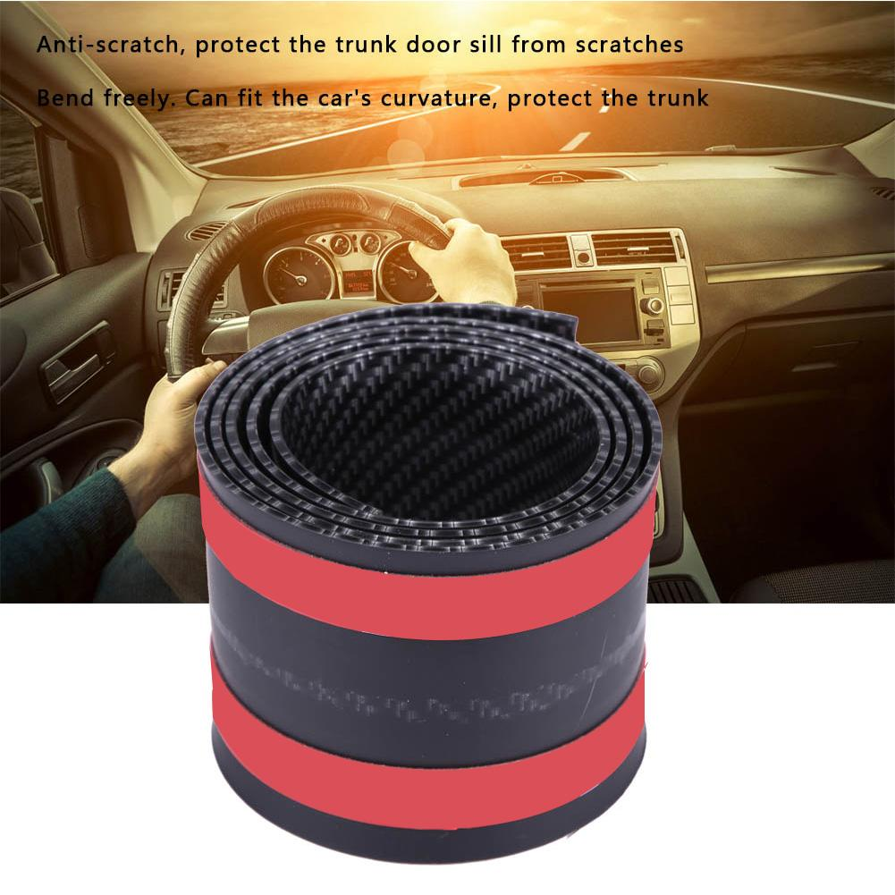 Acouto Door Sill Guard,Car Stickers Carbon Fiber Rubber Styling Door Sill Guards Protector Universal Automotive Door Entry Guard 3X100 CM