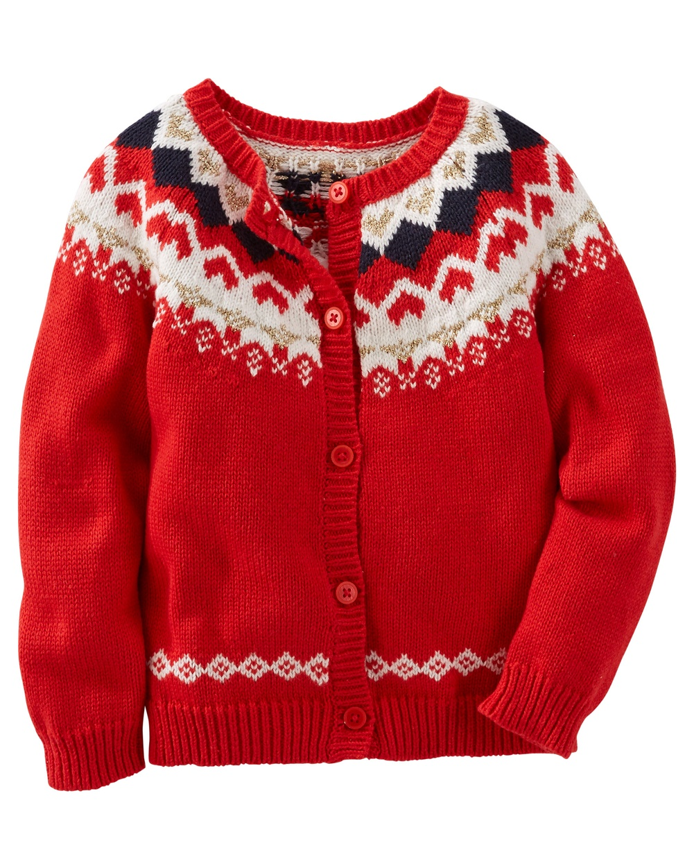 OshKosh B'gosh Baby Girls' Sparkle Fair Isle Sweater, 9 Months